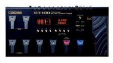 Pedaleira Boss GT-100 p/ guitarra