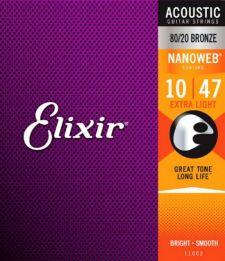 ELIXIR VIOLAO NANOWEB BRONZE 0.10